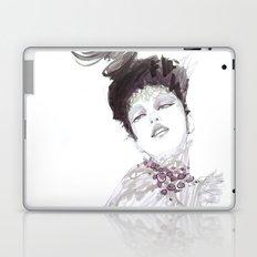 Purple dramatic fashion illustration Laptop & iPad Skin
