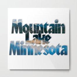 Mountain Lake Minnesota Metal Print