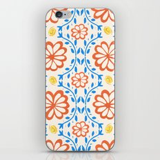 Orange Flower Pattern iPhone & iPod Skin