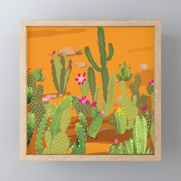 Cactus Variety 5 Framed Mini Art Print