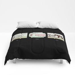 Bad things happening to cute things. Comforters
