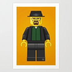 Lego Walter White - Vector Art Print