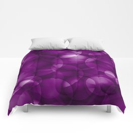 Dark intersecting purple translucent circles in bright colors with a blueberry glow. Comforters
