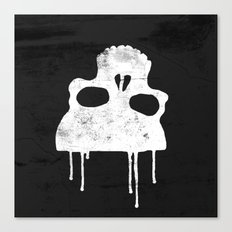 GRUNGE BACKGROUND WITH SKULL Canvas Print