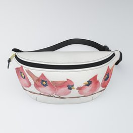 Cardinal on the wire Fanny Pack