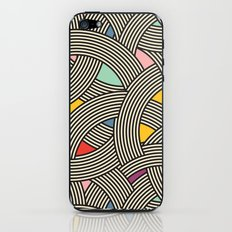 Modern Scandinavian Multi Colour Color Curve Graphic iPhone & iPod Skin