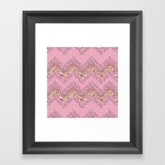 Romantic zig zag Framed Art Print