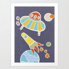 space flying Art Print