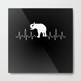 Elephant Heartbeat Metal Print