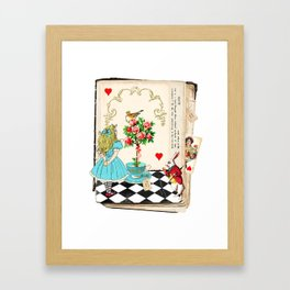 Alice's Book Alice in Wonderland Framed Art Print