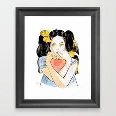 Yellow Ribbon Framed Art Print
