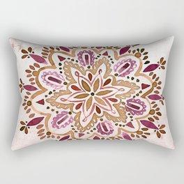 Burgundy Mandala Rectangular Pillow