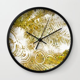 Aqua Metallic Series Skip Wall Clock