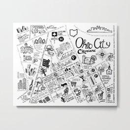 Ohio City Map Metal Print