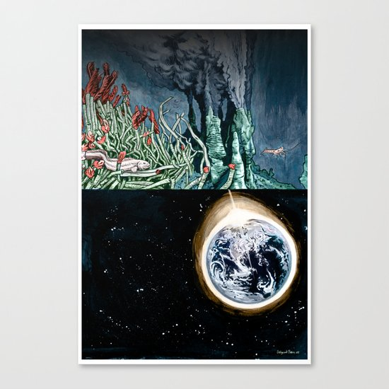 Life on the event horizon 1 Canvas Print