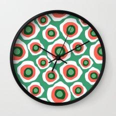 Fried Circles, Minty Yam Wall Clock