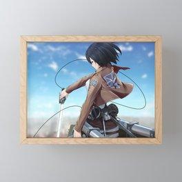 Mikasa Ackerman v1 Framed Mini Art Print