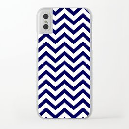 Simple Chevron Pattern - Blue & White - Mix & Match with Simplicity of life Clear iPhone Case