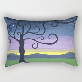 Midnight Woman Rectangular Pillow