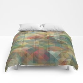 Chic Abstract Retro Triangles Mosaic Pattern Comforters