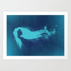 Girl In The Wind Art Print