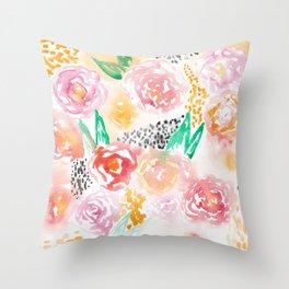 Abstract Watercolor III Throw Pillow
