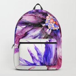 Painted Star Flower Abstract Backpack