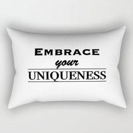 Embrace your uniqueness Rectangular Pillow