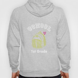 1st First Grade Backpack Back to School design Hoody