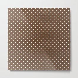 Dots (White/Coffee) Metal Print