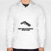 gun Hoodies featuring gun by muffa