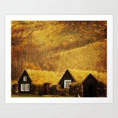 Turf Houses of Iceland Art Print