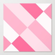 Pink and White Angles Canvas Print