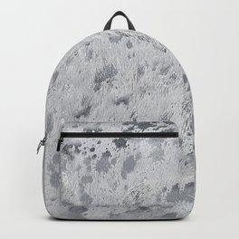 Silver Hide Print Metallic Backpack