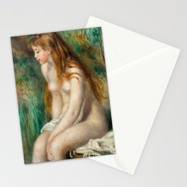 Young Girl Bathing - Auguste Renoir Stationery Cards