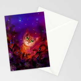 Night Cat 1 Stationery Cards