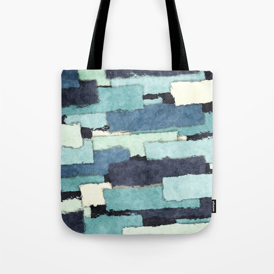 Layers of Colors Pattern Tote Bag