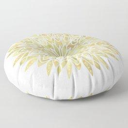 Mandala Yellow Sunflower Floor Pillow