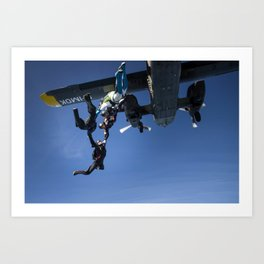 Exiting a Plane Art Print