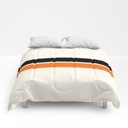 2 Stripes Black Orange Comforters
