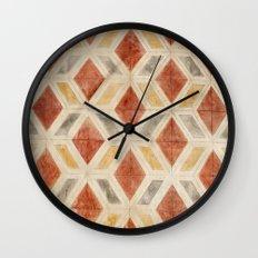 Rombos rojos Wall Clock