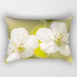 Beautiful cherry blossom on a vivid green background - summer atmosphere Rectangular Pillow