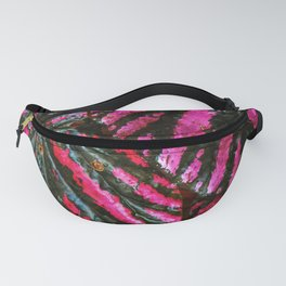 Red and Green Leaf Pattern Fanny Pack