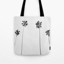 Black & White Palms Tote Bag