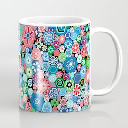 Millefiori Blue and Red Coffee Mug