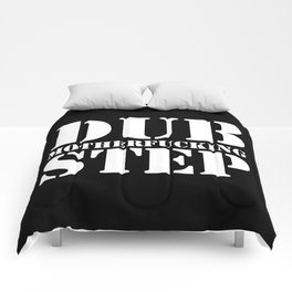 Dub Motherf*cking Step EDM Quote Comforters