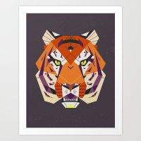 fierce Art Prints featuring Fierce by Nayla Smith