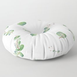 Eucalyptus Pattern Watercolor  Floor Pillow