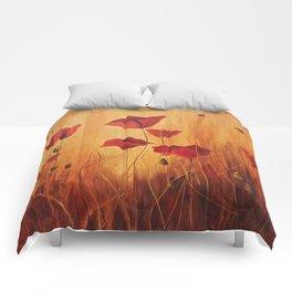 Ellie's poppies Comforters