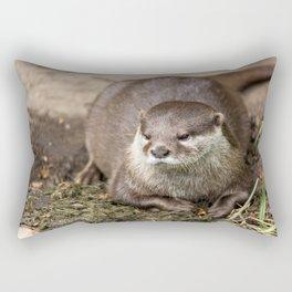 Sunning Otter Rectangular Pillow